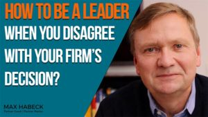 How to be a leader when you disagree